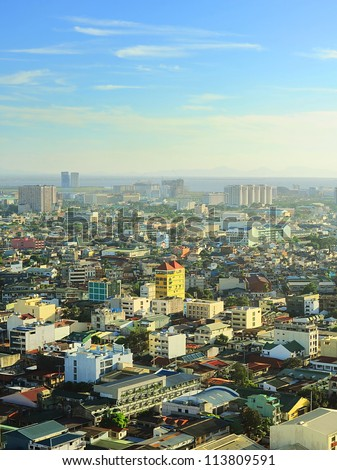 Aerial view on  Metro Manila, Philippines - stock photo