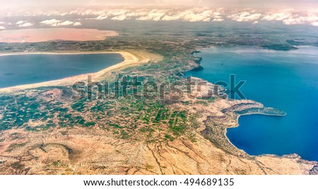 Aerial view ot Shalla, Abijatta and Langano Lakes