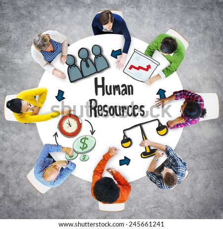 Aerial View People Career Plan Human Resources Concepts - stock photo