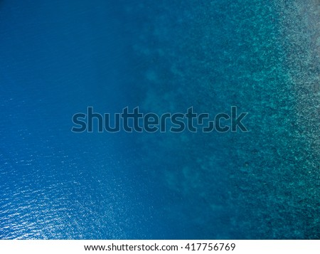 Aerial  water view  - stock photo