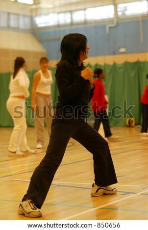 aerobics class - stock photo
