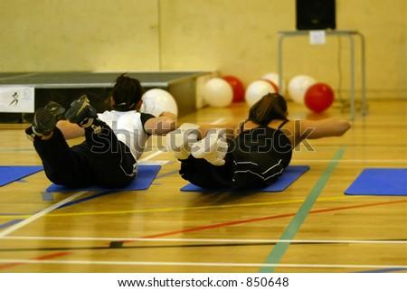 aerobics class dish - stock photo