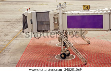 Aerobridge for support passenger in the airport - stock photo