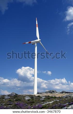 aerogenerator - stock photo
