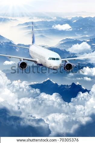 aeroplane - stock photo