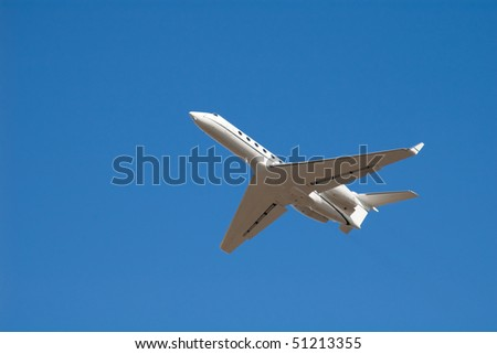 Aeroplane flying on a clear blue sky