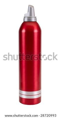 aerosol balloon isolated on white background - stock photo