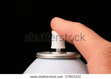 Aerosol barrel used in the cosmetic, technical industries, and also in house use. - stock photo