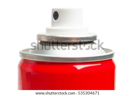 Aerosol nozzle isolated on white.