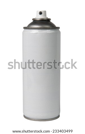 aerosol on the white background - stock photo