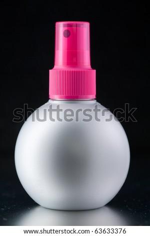 Aerosol Spray isolated on the black background - stock photo