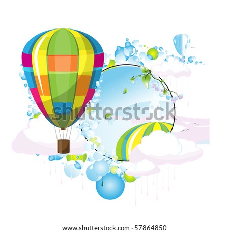 Aerostat illustration beautiful
