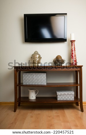 Aesthetically pleasing tv viewing  - stock photo