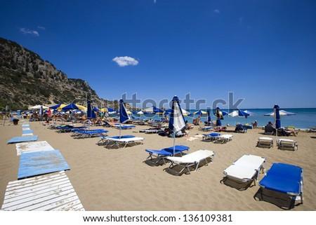 Afandou (Afantou) beach, Rhodes island, Greece - stock photo