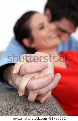 Affectionate couple enjoying each others company - stock photo