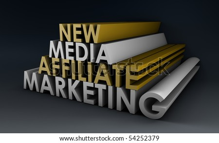 Affiliate Marketing Concept on a Online Referral - stock photo