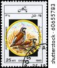 """AFGHANISTAN - CIRCA 1985: A Stamp shows image of a Partridges from the series """"Birds"""", circa 1985 - stock photo"""