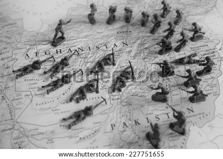 Afghanistan conflict - stock photo