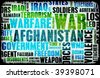 Afghanistan War as a Grunge Abstract Background - stock photo