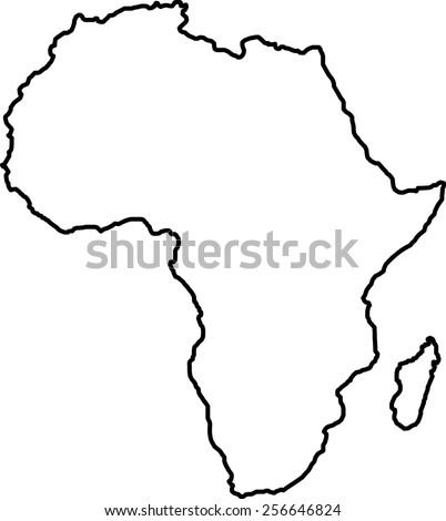 africa blank map