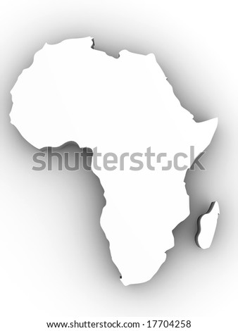 Africa. 3d - stock photo