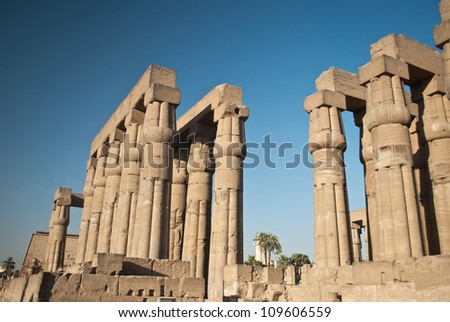 Africa, Egypt, Luxor, Amun Temple of Luxor - stock photo