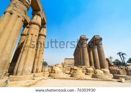 Africa, Egypt, Luxor, Amun Temple of Luxor. One of the landmarks - stock photo