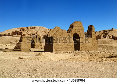 Africa Egypt Luxor, ancient ruins