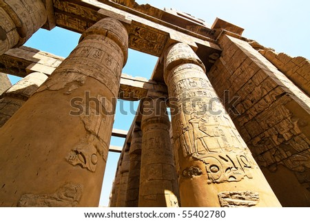 Africa, Egypt, Luxor, Karnak temple - stock photo