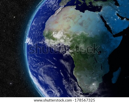 Africa from space. Elements of this image furnished by NASA.