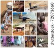 Africa life - stock photo