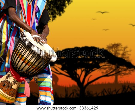 Africa sound - stock photo