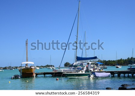 Africa, the great bay coast in Mauritius Island - stock photo