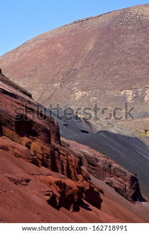 africa  view from the mountain line in lanzarote spain