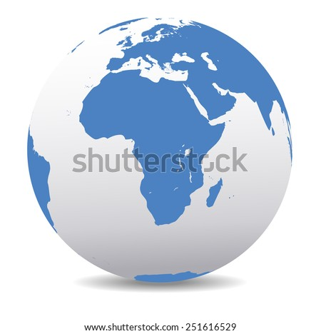 Africa World Globe - Raster Version - stock photo