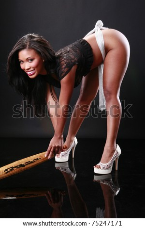 African-American and Chinese umbrella - stock photo