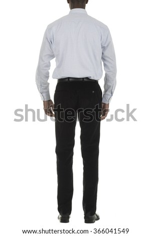 African american black business man in smart work outfit isolated white studio background