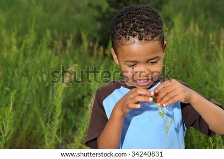 African American Boy - stock photo