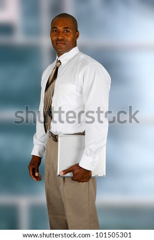 African american business man in his office