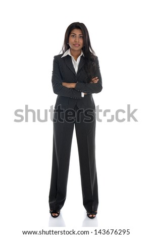 african american business woman isolated on white full body