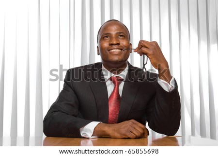 African American businessman - stock photo