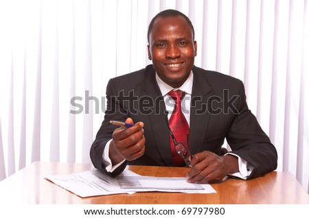 African American businessman - stock photo