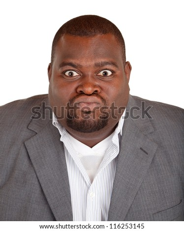 African American Businessman Angry About Something - stock photo