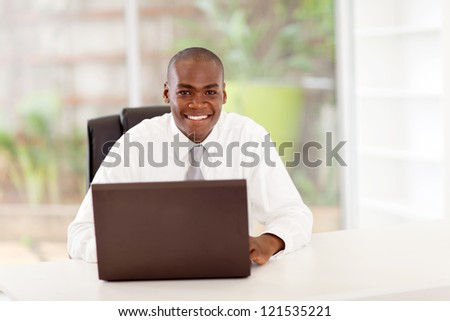 african american businessman in office - stock photo
