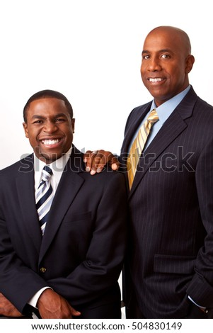 African American businessman with his mentor.