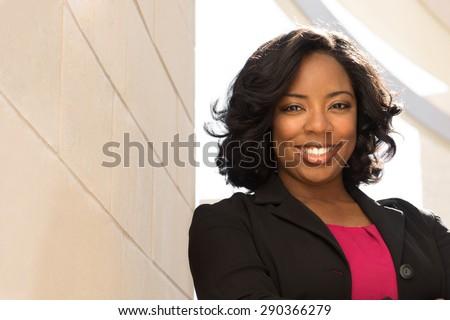 African American businesswoman. - stock photo