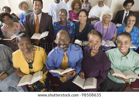 African American Congregation - stock photo