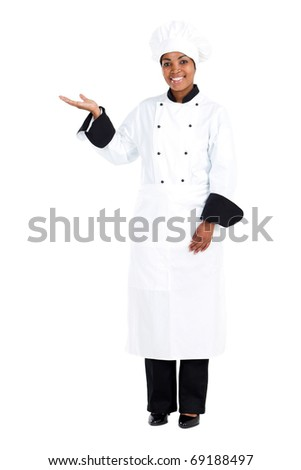 african american female chef - stock photo