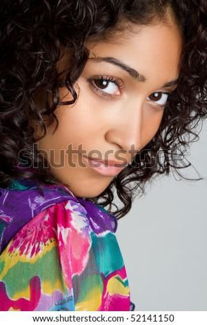 African American Girl - stock photo