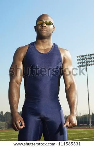 African American Male Athlete Sportswear On Stock Photo ...